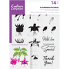Crafters Companion - A5 Photopolymer Stamp - Flourishing Fuchsias