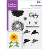 Crafters Compnion - A5 Photopolymer Stamp - Happy Sunflower