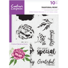 Crafters Compnion - A5 Photopolymer Stamp - Traditional Peony