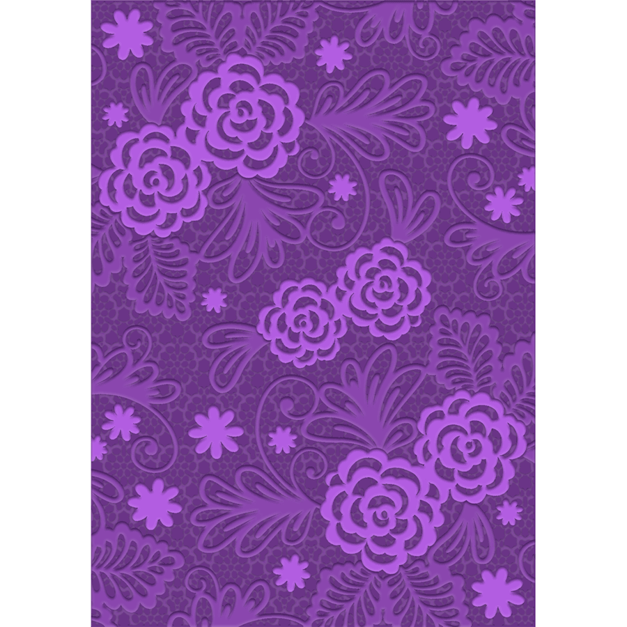 Gemini A6 3D Embossing Folder by Crafters Companion - Blossoming Lace