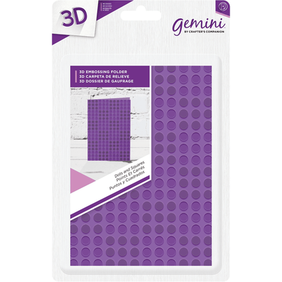 Gemini A6 3D Embossing Folder by Crafters Companion - Dots and Squares