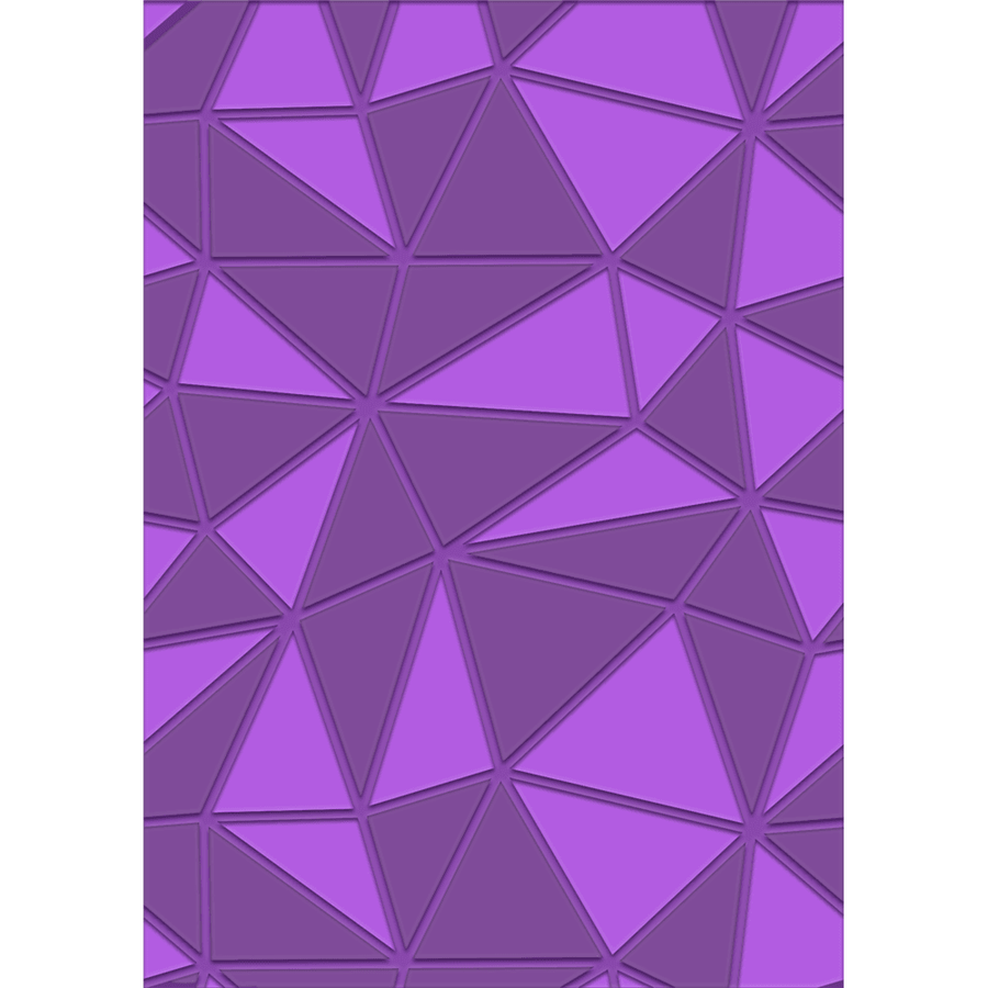 Gemini A6 3D Embossing Folder by Crafters Companion - Geometric Decor