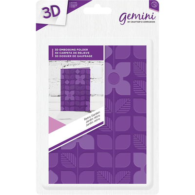 Gemini A6 3D Embossing Folder by Crafters Companion - Retro Garden