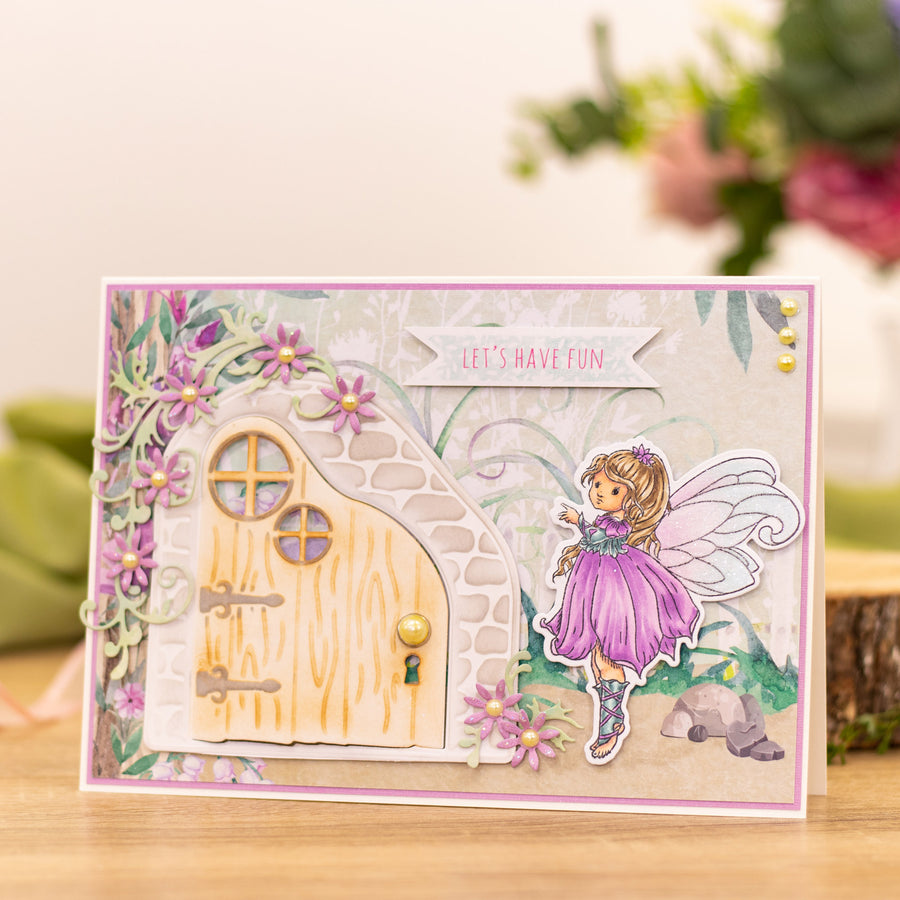 Natures Garden - Fairy Garden - Stamp and Die - Flower Fairy