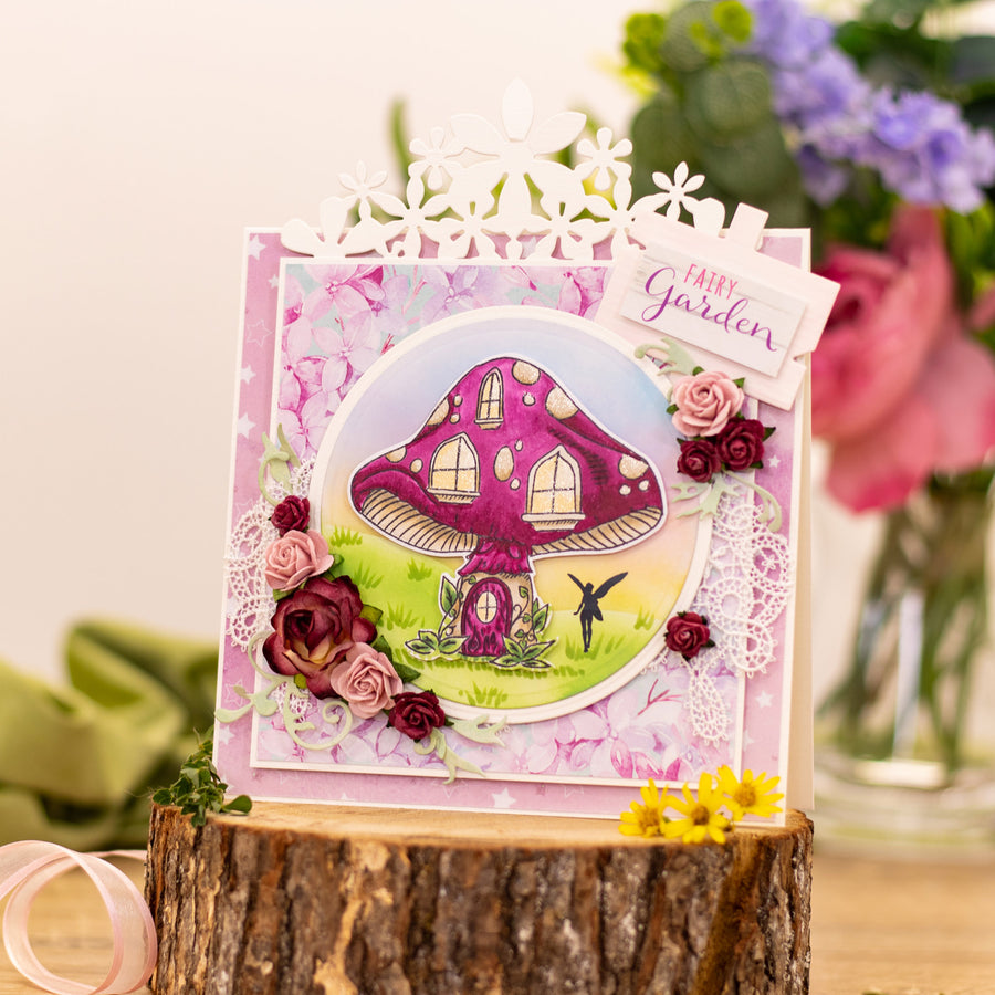 Natures Garden - Fairy Garden - Stamp and Die - Home Sweet Home