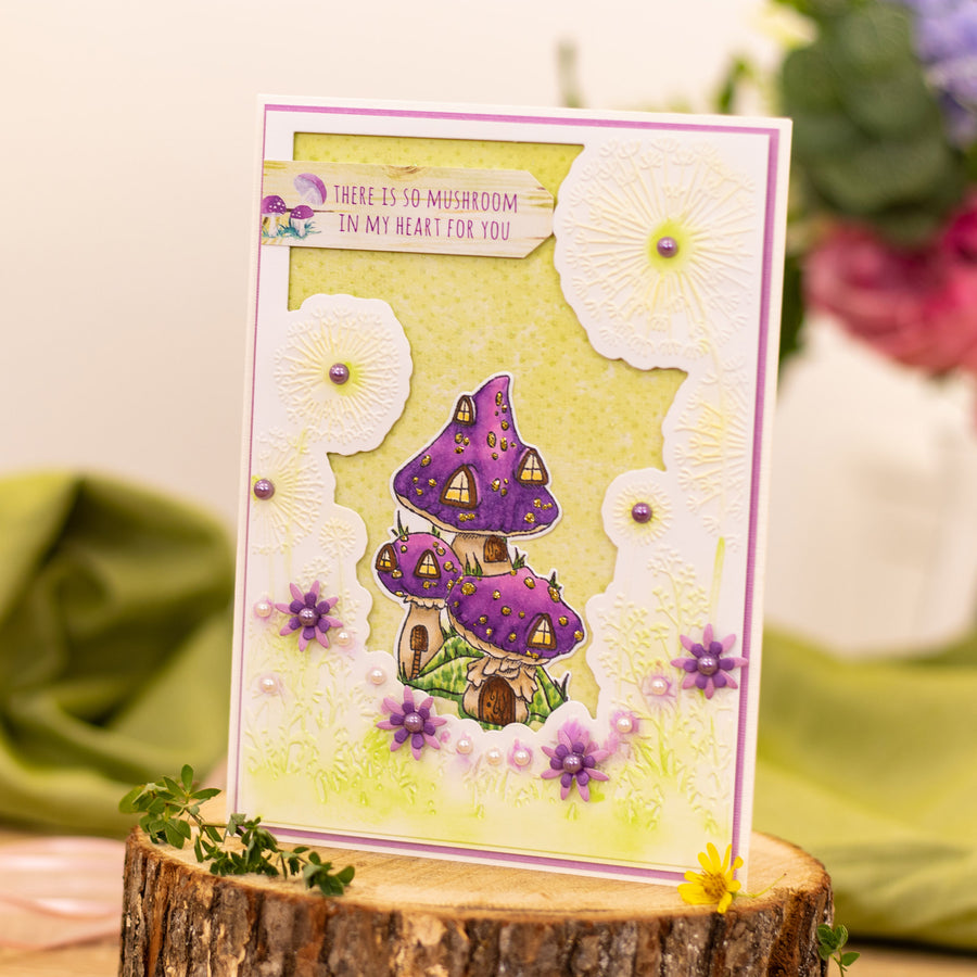 Natures Garden - Fairy Garden - Stamp and Die - Toadstool Village