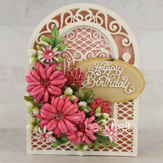 Heartfelt Creations - Teardrop Lattice Gateway Die -  HCD2-7337