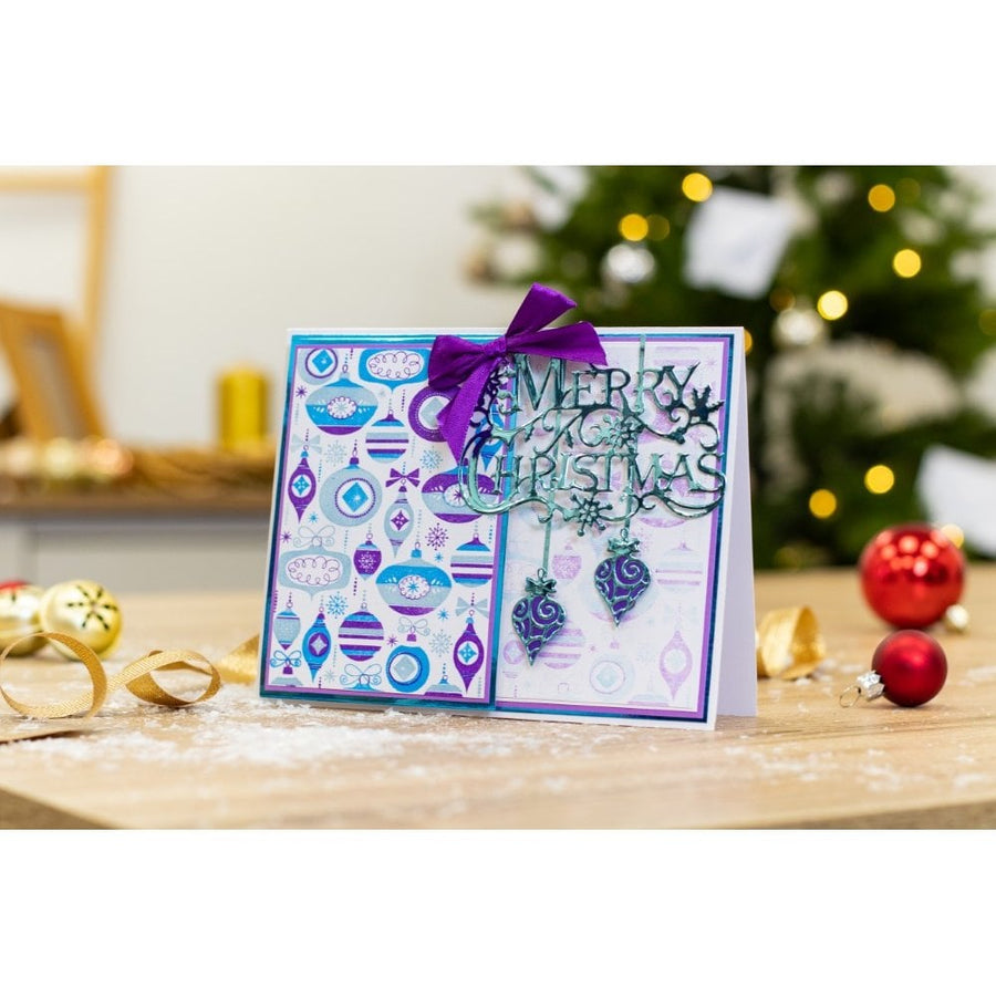 Crafters Companion - Background Layering Stamps - Beautiful Baubles
