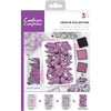 Crafters Companion - A6 Background Layering Stamps - Crocus Collection