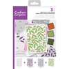 Crafters Companion - Background Layering Stamps - Festive Holly