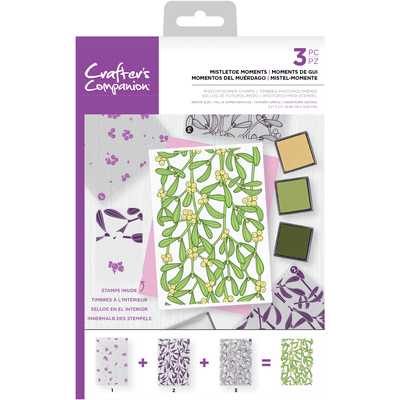 Crafters Companion - Background Layering Stamps - Mistletoe Moments