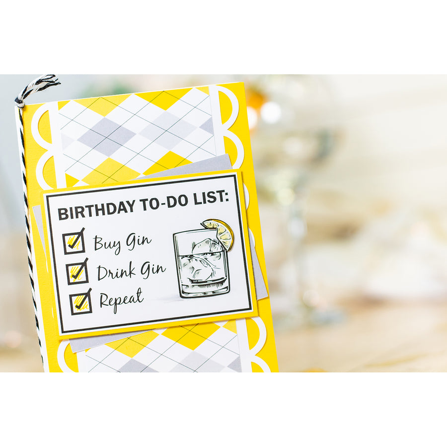 Crafters Companion - Clear Acrylic Stamps - Birthday To-Do List