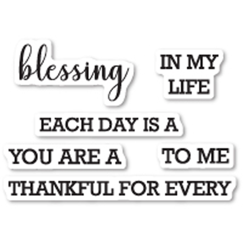 Memory Box: Each Day is a Blessing Stamp Set - CL5214