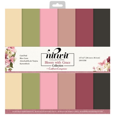 "Nitwit - Bloom with Grace - 12""x12"" Card Pad"