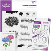 Crafters Companion - Die & Stamp Combo - Budding Hydrangeas