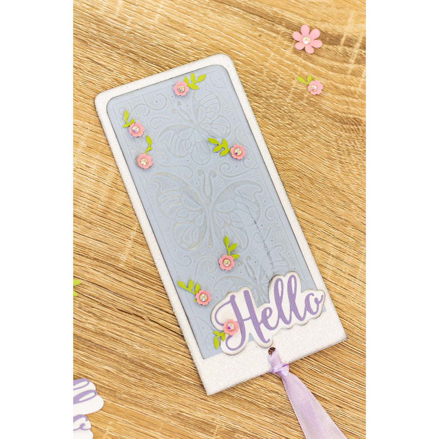 "Gemini by Crafters Companion - 3D Embossing Folder 5.75"" x 2.75"" - Butterfly Paradise"