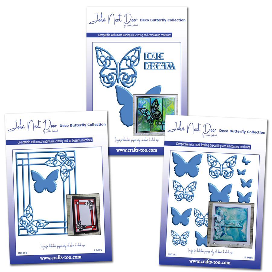 John Next Door Deco Butterfly Collection - 3 Set Bundle