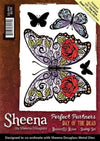 Sheena Douglass Perfect Partners Day of the Dead - Butterfly Rose A6 Rubber Stamp Set