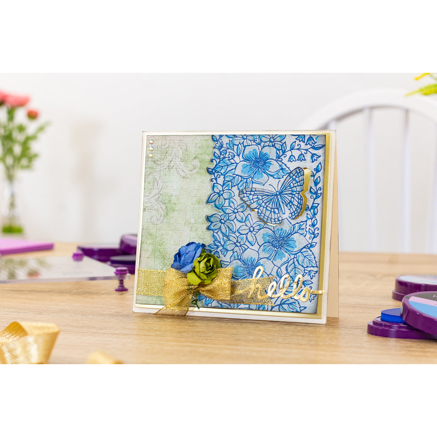 Crafters Companion - A6 Background Layering Stamps - Butterfly Bouquet