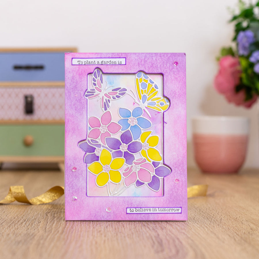 Gemini by Crafters Companion - Stamp & Die - Butterfly Garden