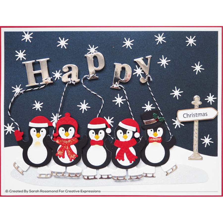 Sue Wilson Stamp & Die Set - Festive Collection - Happy - CEDSD003