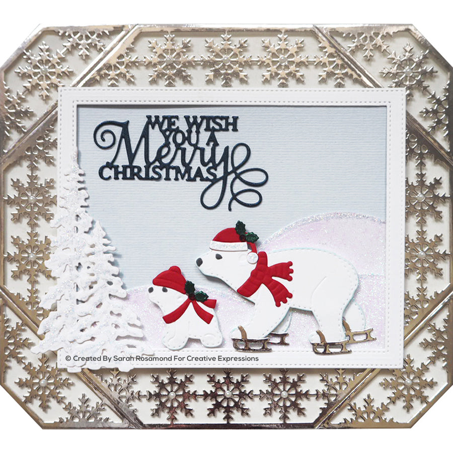 Sue Wilson Dies - Festive Collection - Polar Bear Playtime - CED3206