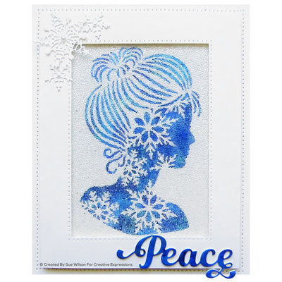 Sue Wilson Dies - Festive Collection -  Snowflake Silhouette - CED3212