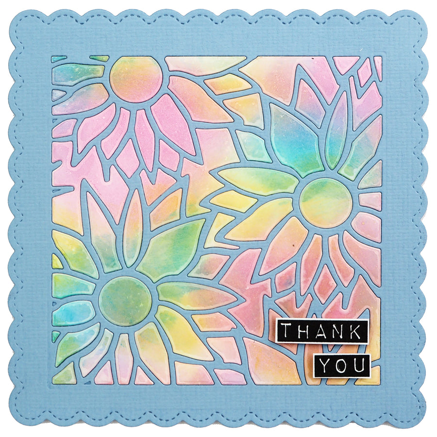 Lisa Horton Dies - Tile Collection - Sunflower Blooms Craft Die