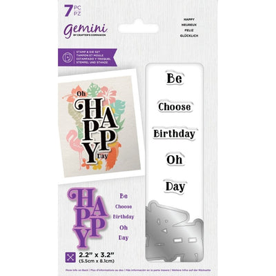Gemini by Crafters Companion - Stamp & Die - Happy