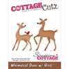 Cottage Cutz Die - Whimsical Deer with Bird - CC-065
