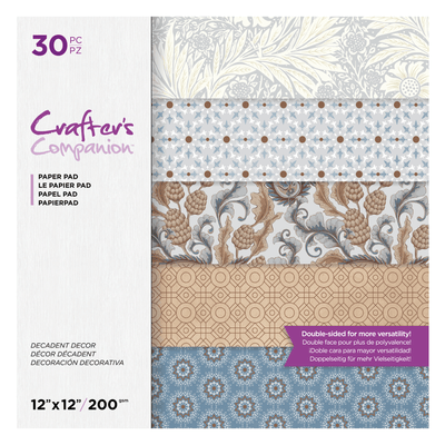 "Crafters Companion - 12""x12"" Paper Pad - Decadent Decor (30pc)"