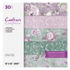 "Crafters Companion- 12""x12"" Paper Pad - Floral Fantasy (30pc)"