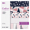 "Crafters Companion - 12""x12"" Paper Pad - Navy Blush (30pc)"