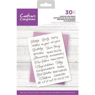 Crafters Companion Stamp Set  - Everyday Sentiments