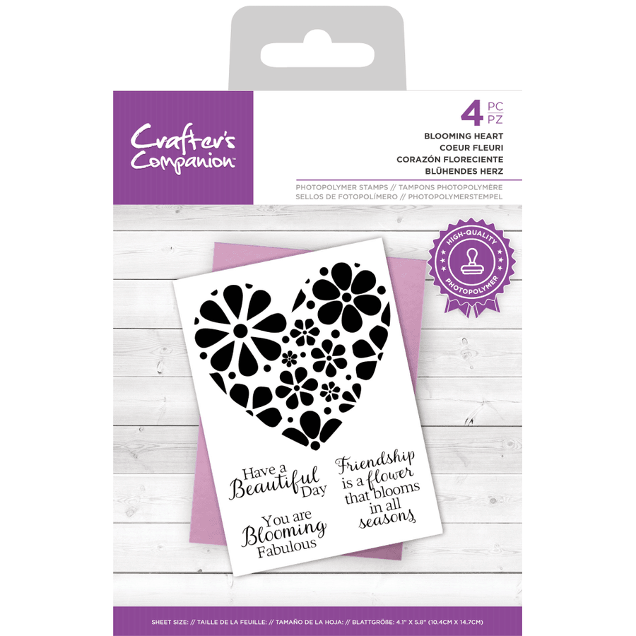Crafters Companion - Photopolymer Stamp - Blooming Heart