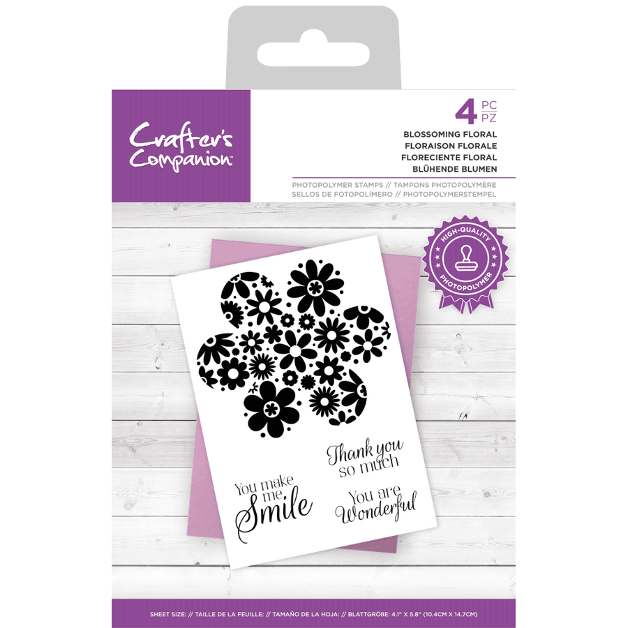 Crafters Companion - Photopolymer Stamp - Blossoming Floral