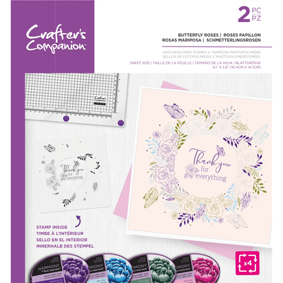 Crafters Companion Photopolymer Stamp - Butterfly Roses