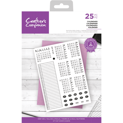 Crafters Companion Stamp - Calendars