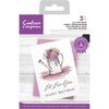 Crafters Companion Stamp - Let Love Grow