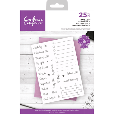 Crafters Companion Stamp - Make a List