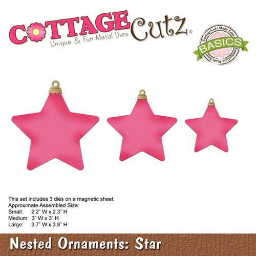 Cottage Cutz Elites Die - Nested Ornaments - Star - CCB-038