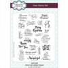 Sue Wilson Stamps - Festive Greetings A5 Clear Stamp Set - CEC928