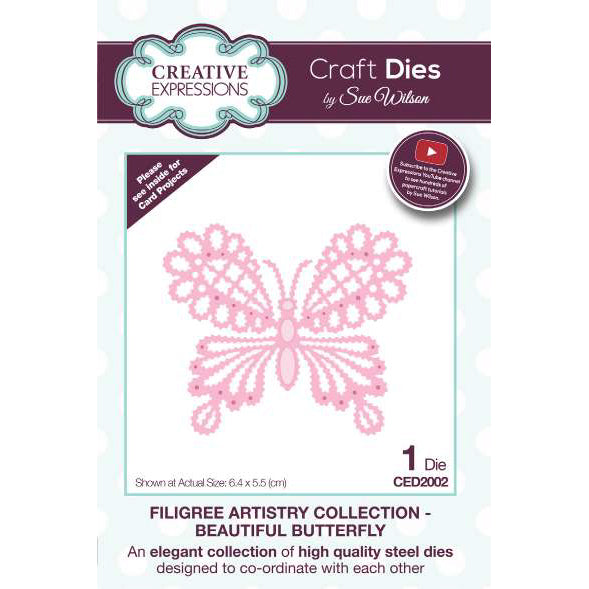 770ee4b6871 Sue Wilson Dies - Filigree Artistry Collection Beautiful Butterfly - CED2002