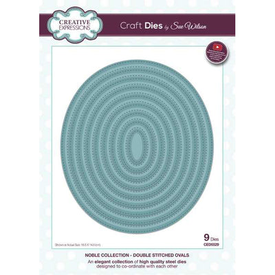 Sue Wilson Dies - Noble Collection Double Stitched Ovals - CED5529