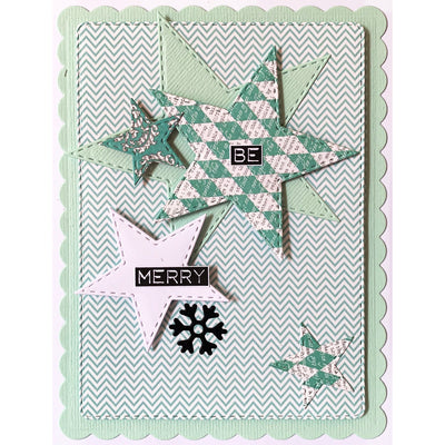 Lisa Horton Dies - Stitched Collection - Silhouette Christmas Embellishments Craft Die - CEDLH1082