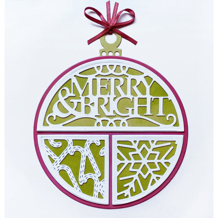 Lisa Horton Dies - Split Circles - Merry & Bright Craft Die - CEDLH1080