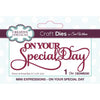 Sue Wilson Dies - Mini Expressions Collection On Your Special Day - CEDME030