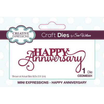 Sue Wilson Dies - Mini Expressions Collection Happy Anniversary - CEDME031