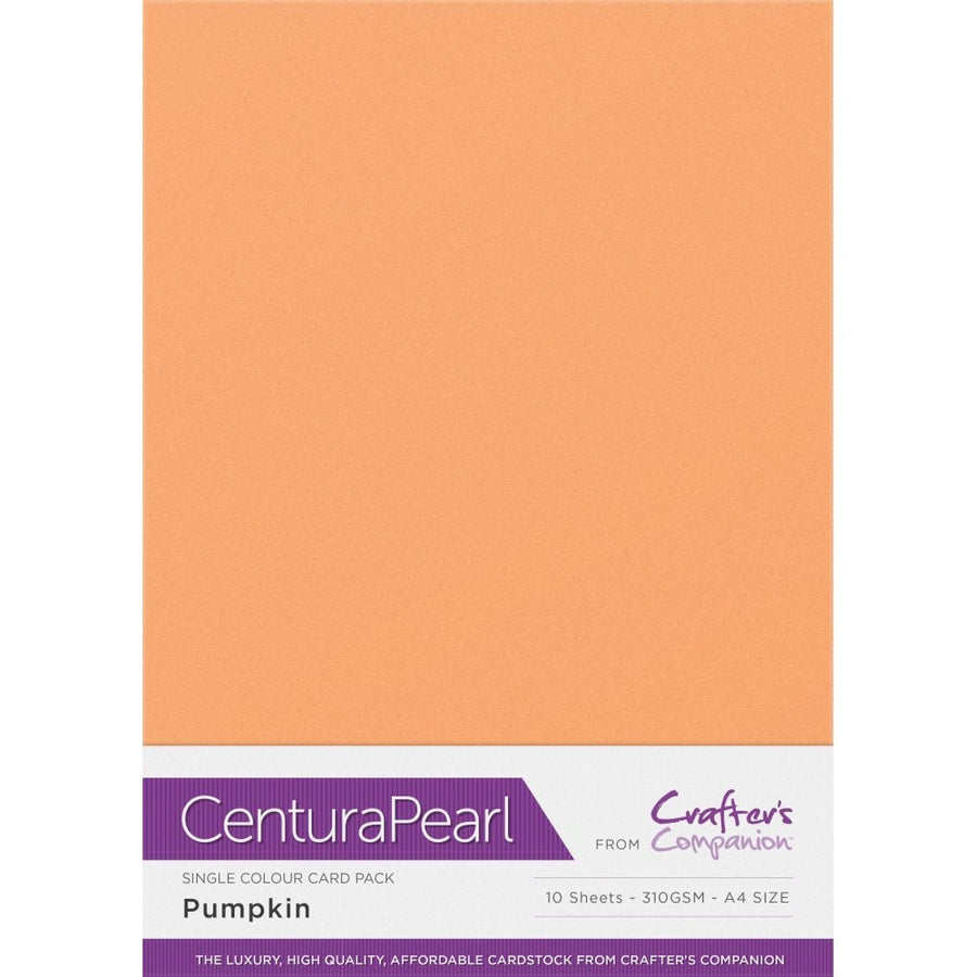 Crafter's Companion Centura Pearl 10 Sheet Card Pack - Pumpkin