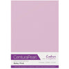 Crafter's Companion Centura Pearl 10 Sheet Card Pack - Baby Pink